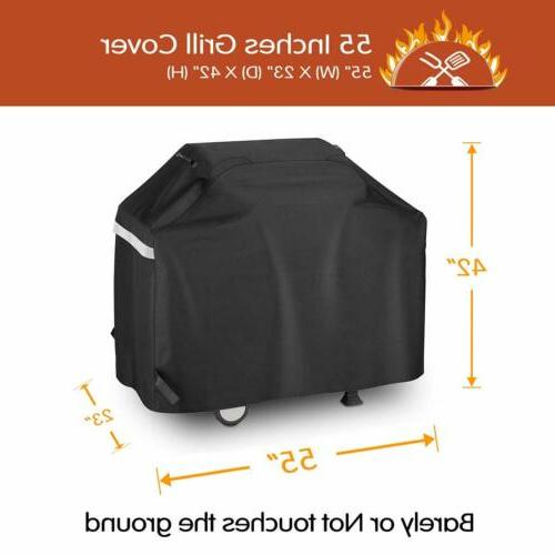 "55"" 3 to 4 Burners Gas Grill Cover for Weber Nexgrill Brinkm"