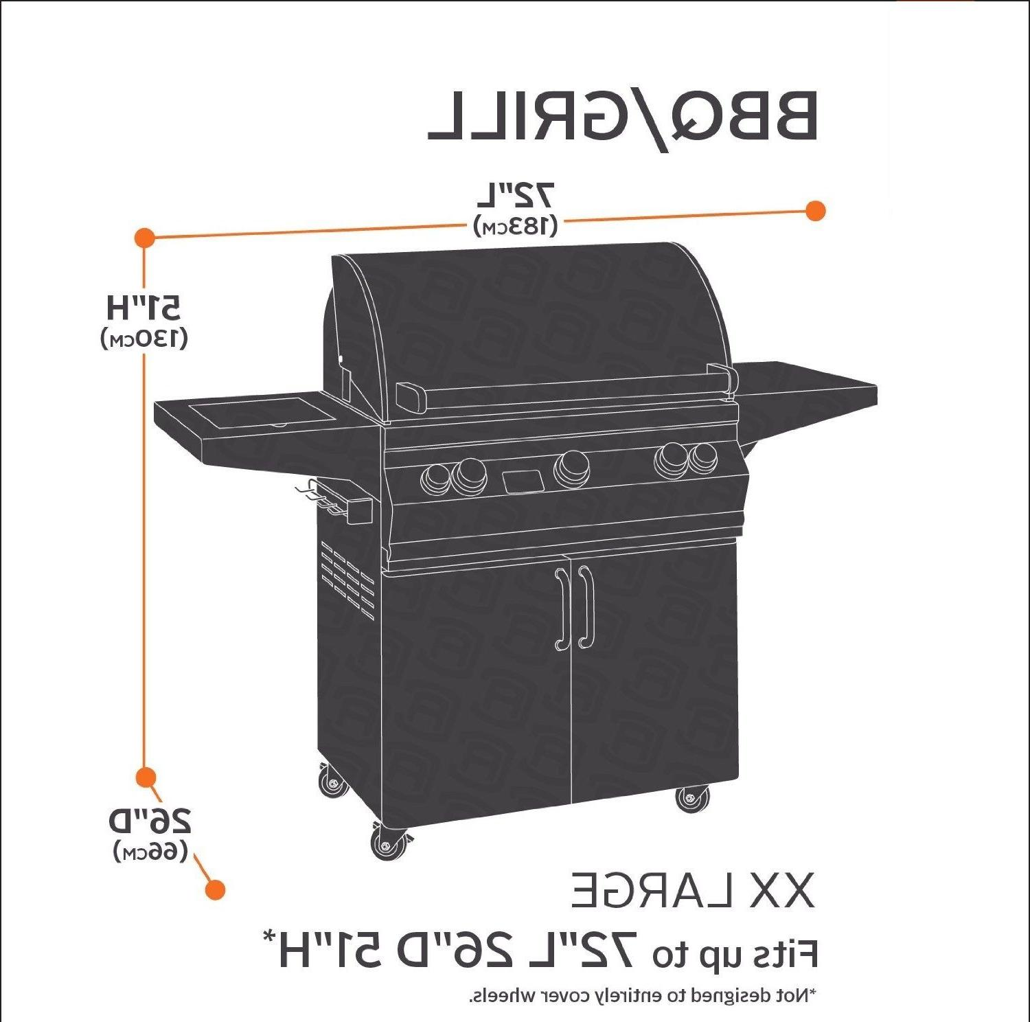 """BBQ Grill Cover 58"""" 64"""" 70"""" 72"""" Barbecue Heavy Outdoor Weber"""