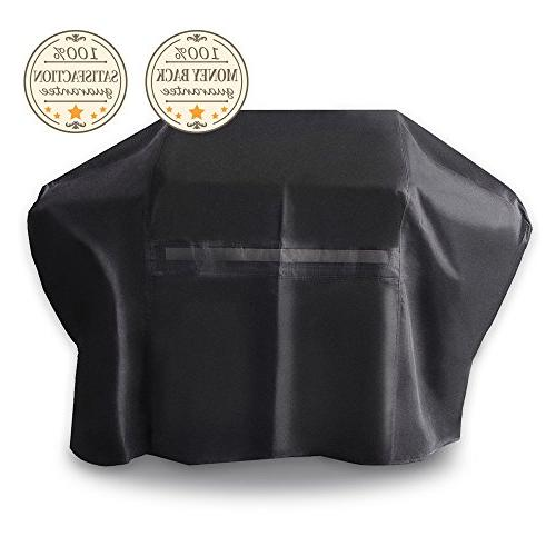 iCOVER-Grill-Cover- Resistant 600D Heavy-Duty Proof Patio Outdoor BBQ Char-Broil Brinkmann and JennAir, Black,