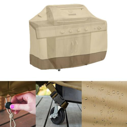 "64"" BBQ Gas Cover Beige Barbecue Waterproof Patio Weber"