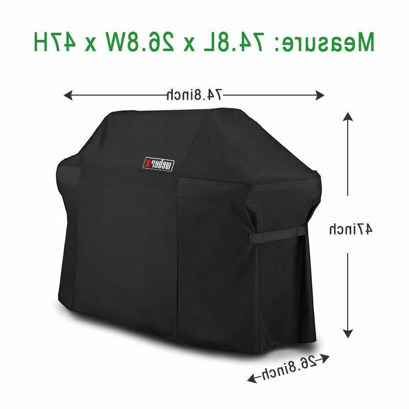 Weber 7109 Grill Cover With Black Storage For Grills