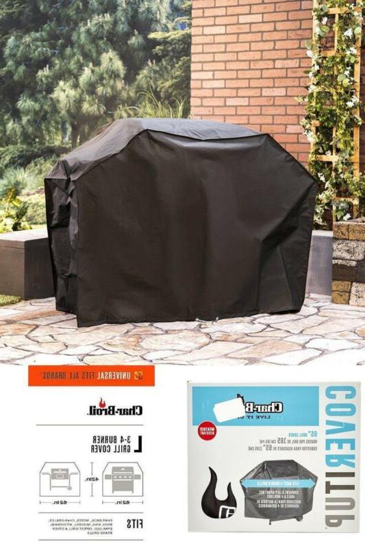Char-Broil HEAVY-WEIGHT Grill Cover 4 Burner Weather Resista