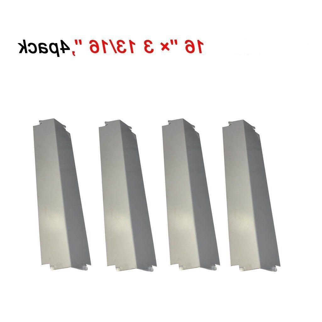 Stainless Steel Heat Plates 4pk BBQ Gas Grill Parts Shield C