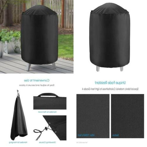 "Unicook Heavy Duty Waterproof Dome Smoker Cover, 30""Dia by 3"