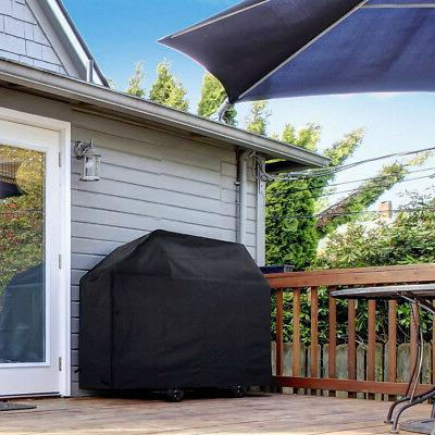 """BBQ Grill Cover 57"""" Barbecue Waterproof Heavy Protection Black"""