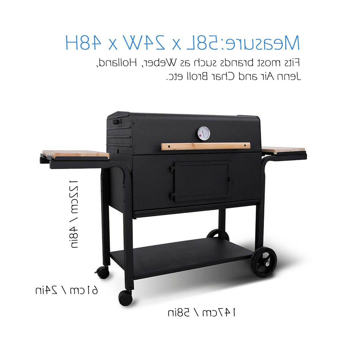 Barbeque Gas Grill Black 58x24x48inch