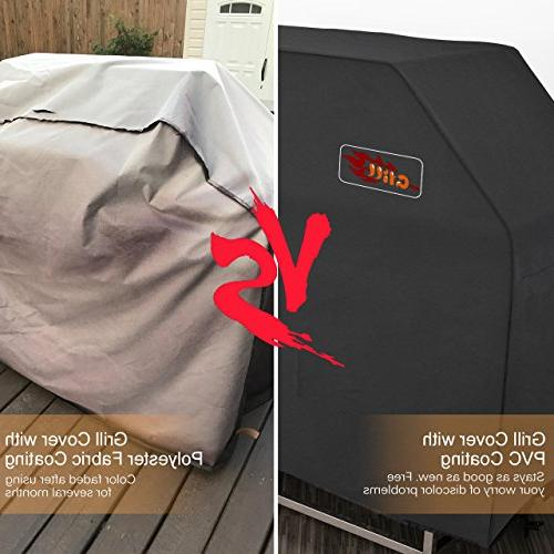 VicTsing BBQ Layer Waterproof Grill Cover, Heavy Cover for Holland, Char