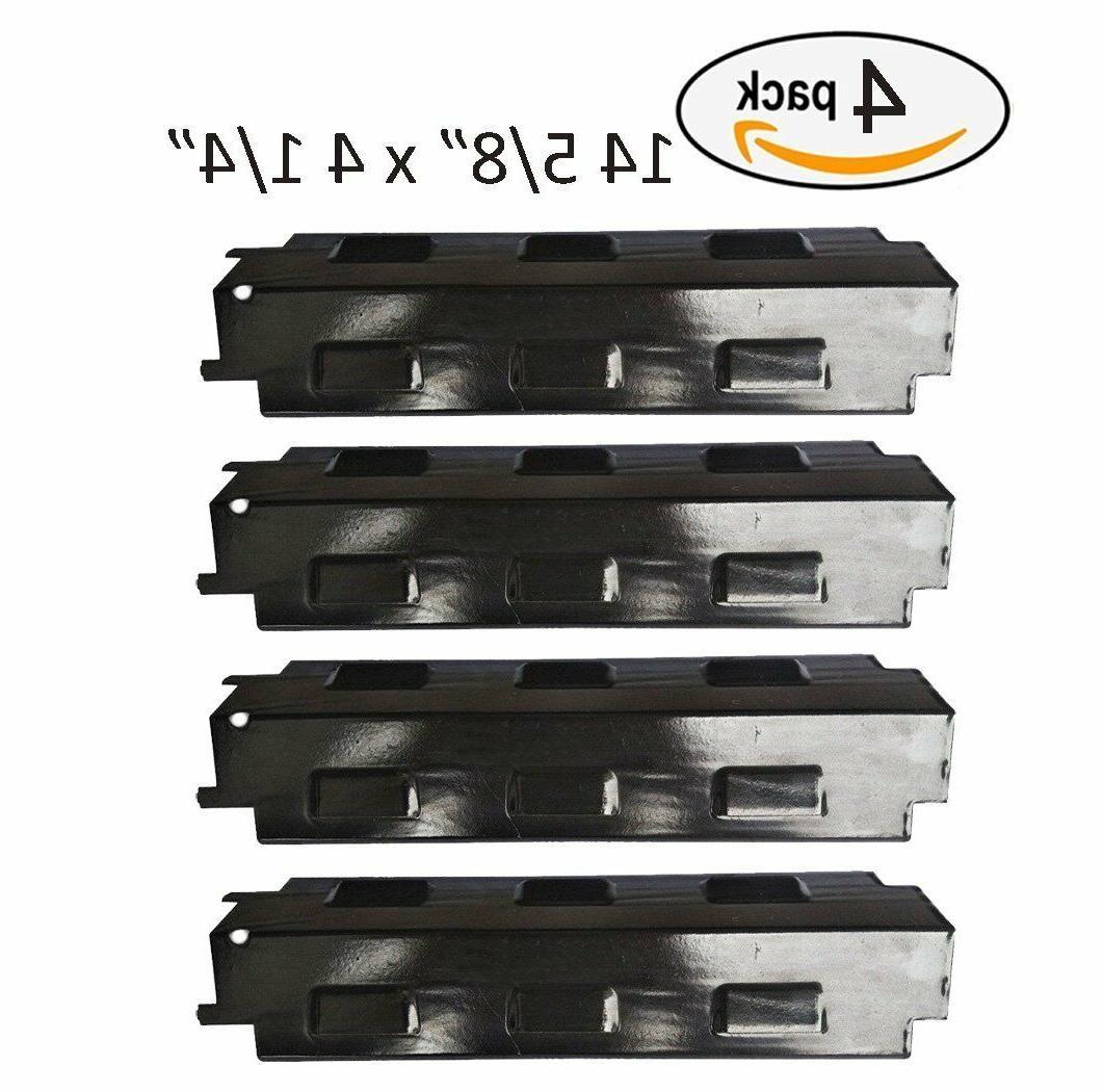 bbq gas grill 4 heat plates shield