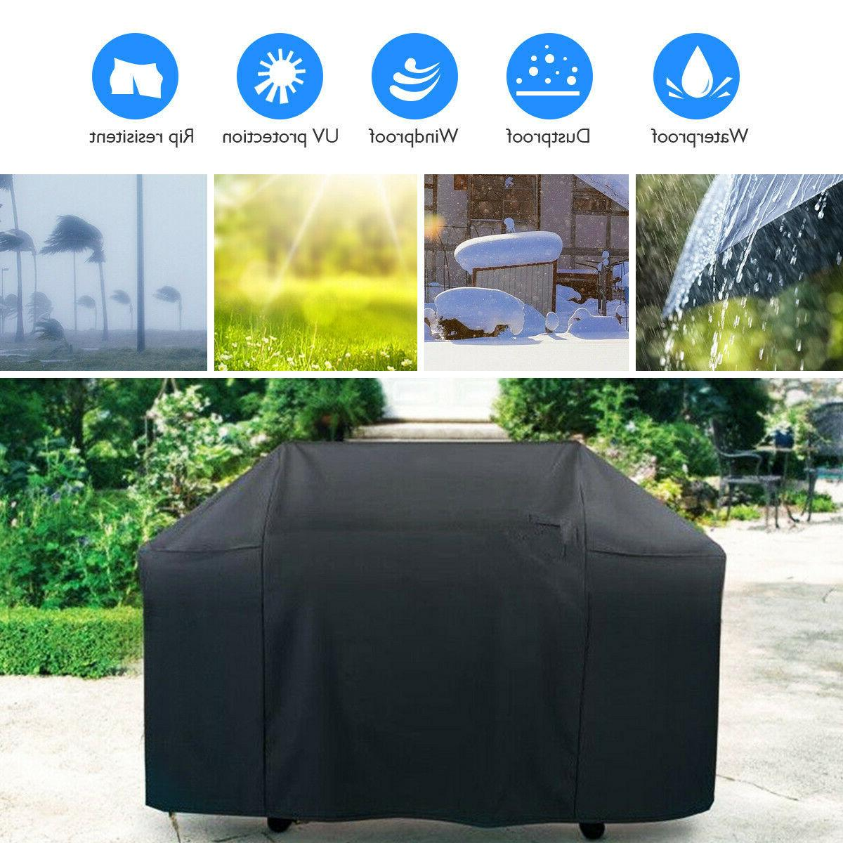 "BBQ Grill Cover 57"" Outdoor Barbecue Heavy-Duty Waterproof F"