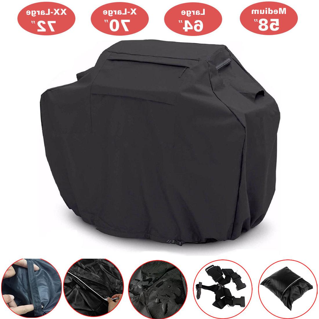 "BBQ Grill Cover 58"" 64"" 70"" 72"" Gas Barbecue Heavy Duty Wate"