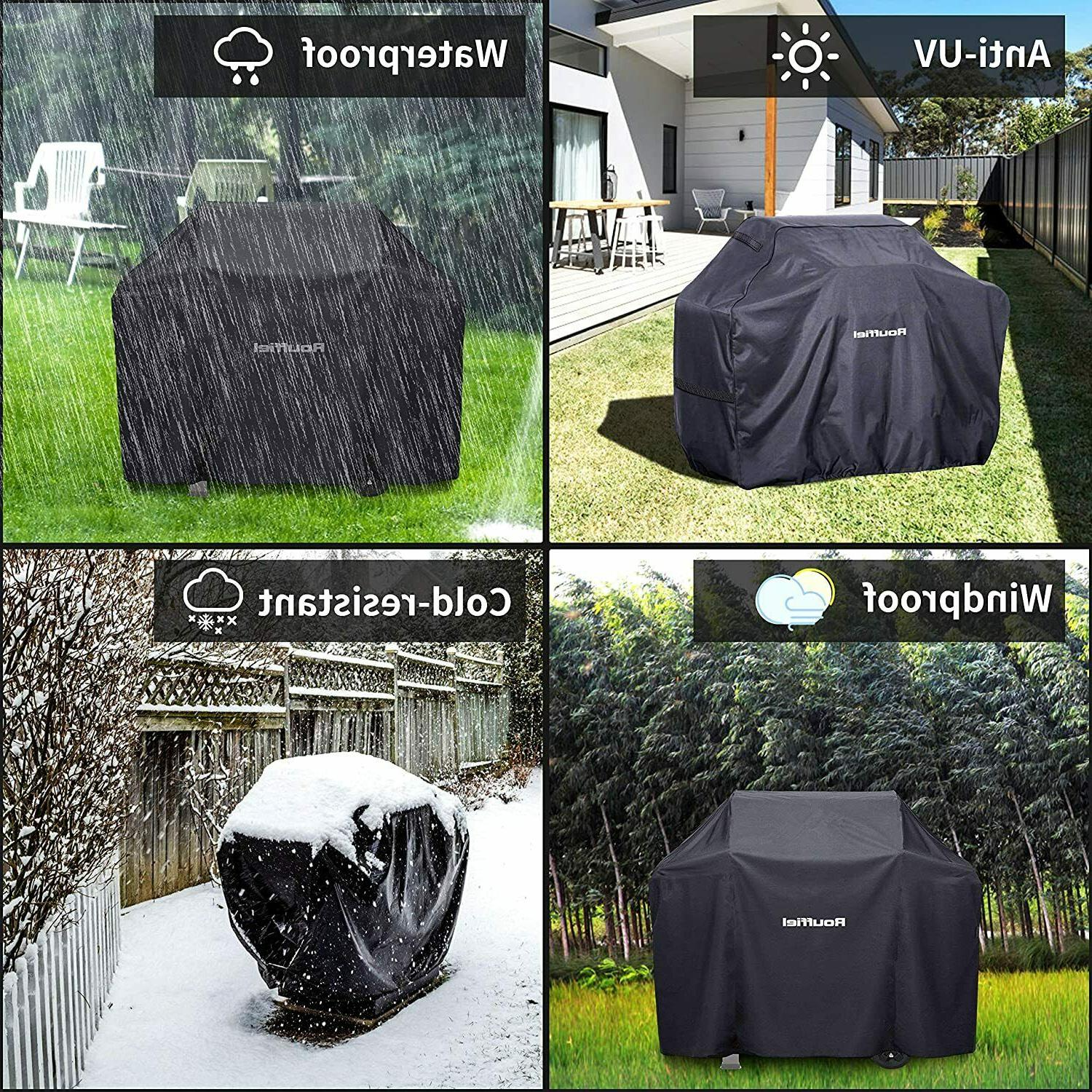 Rouffiel Grill Cover, 58 inch Waterproof Grill Cover, Duty Grill f