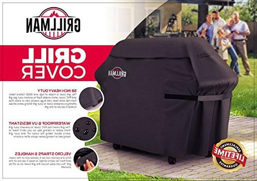 Grillman Premium Cover For Char Rip-Proof , UV & Water-Resistant