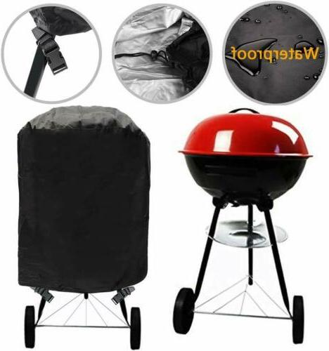 Kettle Style Barbecue Grill Cover Waterproof Outdoor Round B