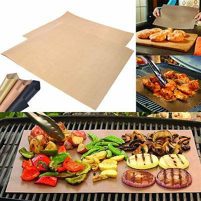 BBQ Grill Mat Set Of 2 Pack Non Stick Pad for Gas Easy Bake