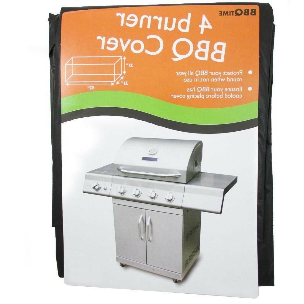 BBQ Grill Vinyl Cover Protects Barbecue Cart Fits Most 4 Fou