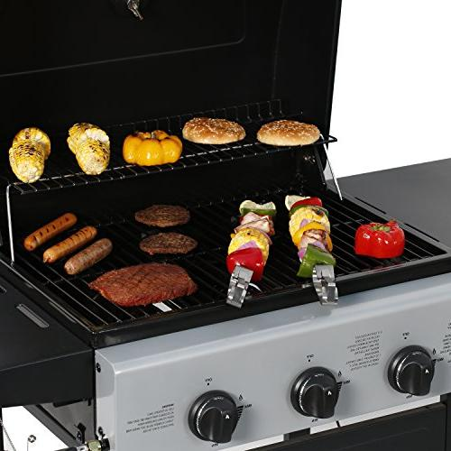 MASTER COOK Propane Gas Grill, Bunner with Folding Black