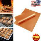 Copper BBQ Grill Mat and Bake Mat Set of 5 Non Stick Gold Gr