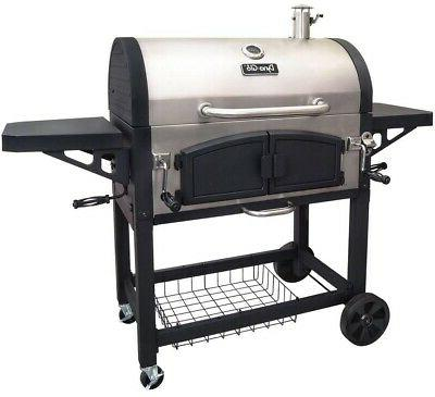 Dyna-Glo DGN576SNC-D Dual Zone Premium Charcoal Grill, X-Lar