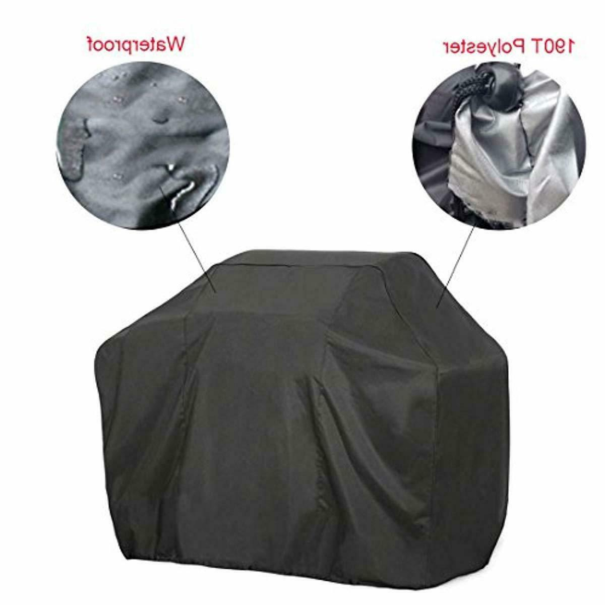FLR Gas Grill Cover Large Black Waterproof Grill C