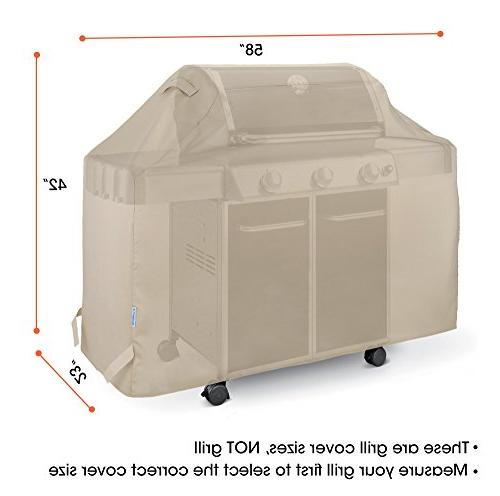 SunPatio Cover 58 Inch, Waterproof Outdoor Cover, Cover, for Weber Char-Broil Grills and More,