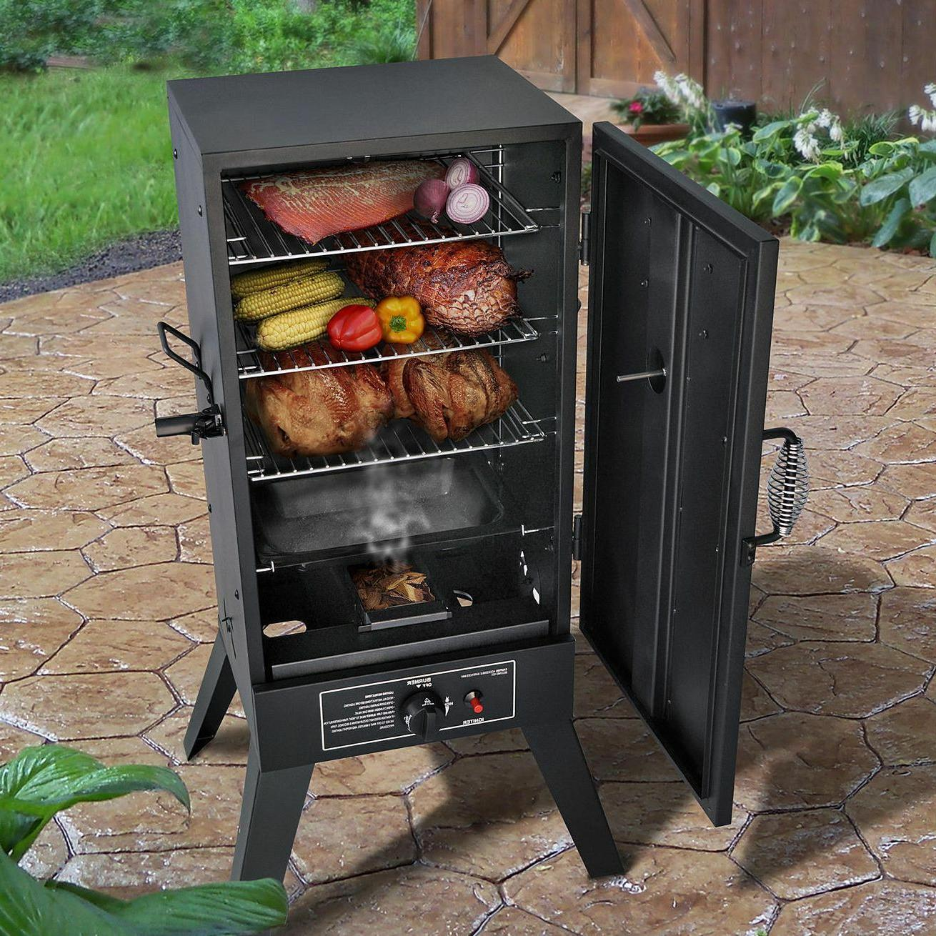 Gas Smoker Grill LP Propane Vertical Outdoor BBQ