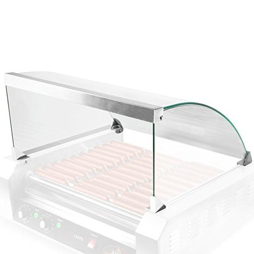 Glass Cover ONLY for Hot Dog 11 Roller Grill Cooker - Replac