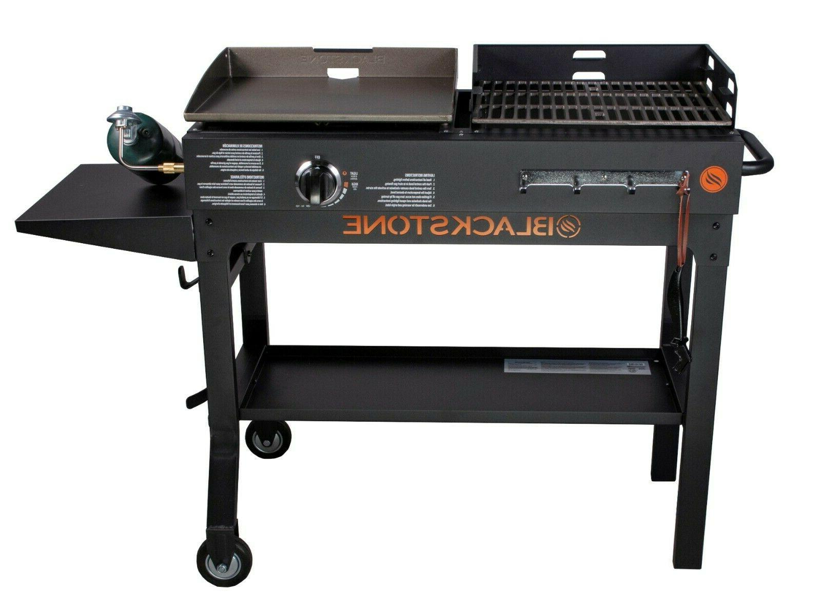 Grill BBQ Griddle and Charcoal Blackstone Duo Combo