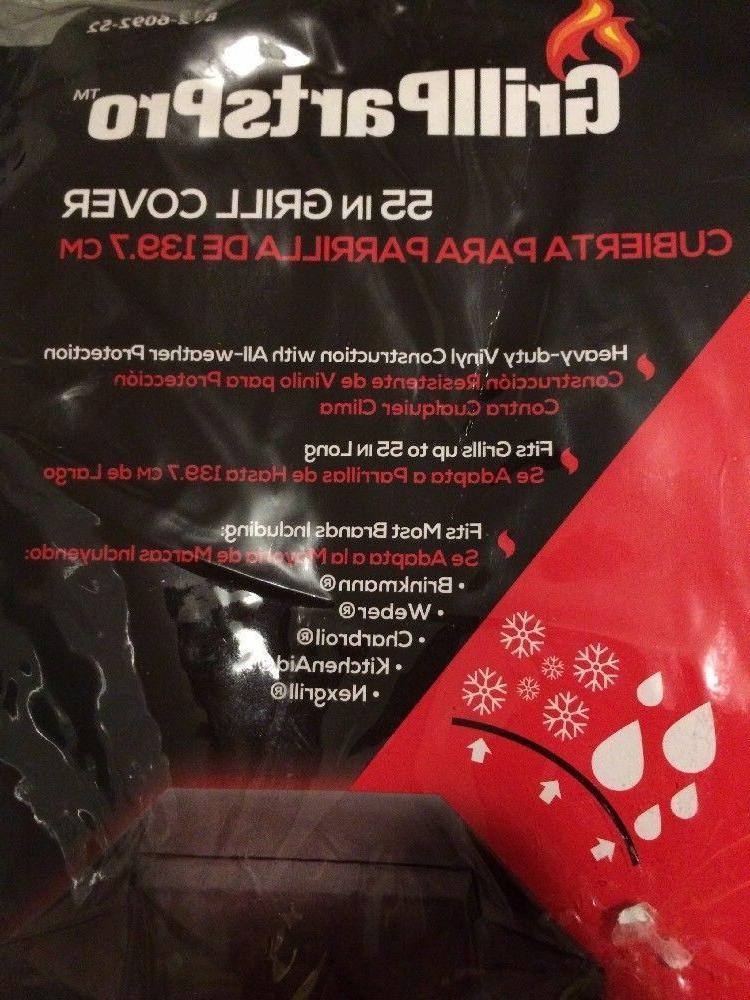 Grill 55 Vinyl Black Grillparts Protection Drawstring New