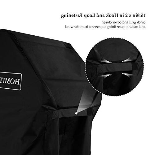 Homitt Grill Cover, 600D Duty Gas Grill Cover, BBQ Grill Facing for Most of