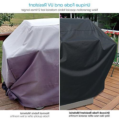 UNICOOK Barbecue Gas Grill Cover, Special Fade Resistant, Fits Weber Char-Broil and More