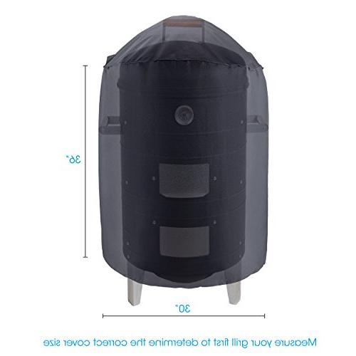 UNICOOK Heavy Duty Dome Dia H,Kettle Grill Cover, Barrel Smoker Cover,Fit Weber Char-Broil