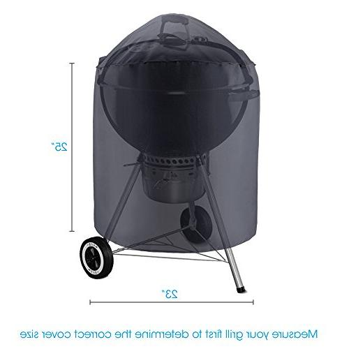 """UNICOOK Heavy Waterproof Kettle 23"""" Dia Cover, Durable Grill/Smoker and More"""