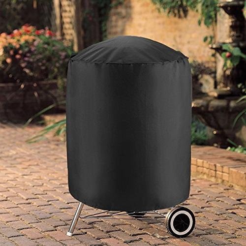 UNICOOK Duty Waterproof Kettle Cover, Dia Smoker Cover, Charcoal Grill Cover, Durable Grill/Smoker for and