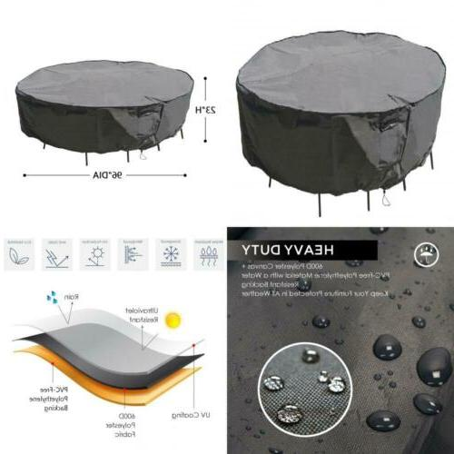 Heavy Duty Waterproof Large Patio Set Cover Outdoor Furnitur