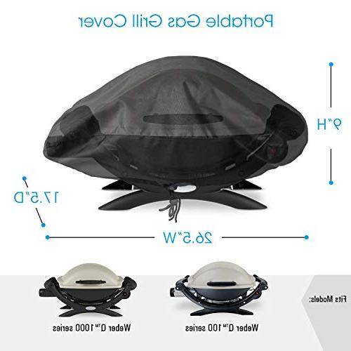 UNICOOK Waterproof Portable Cover Weber Q1000, and Q Grill, 7110, Fade UV