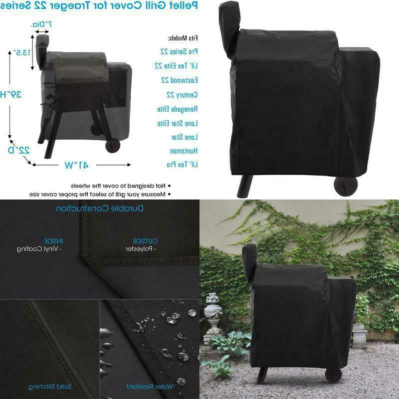 heavy duty waterproof wood pellet grill cover