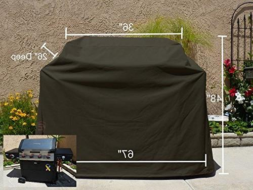Heavy Gauge BBQ Grill Black Cover up to 67 Long