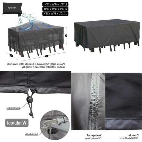 Outdoor Patio Furniture Covers Waterproof Lightweight 210D T
