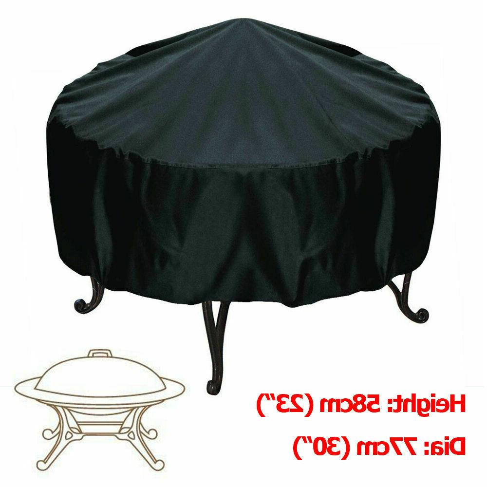 patio round fire pit cover waterproof uv