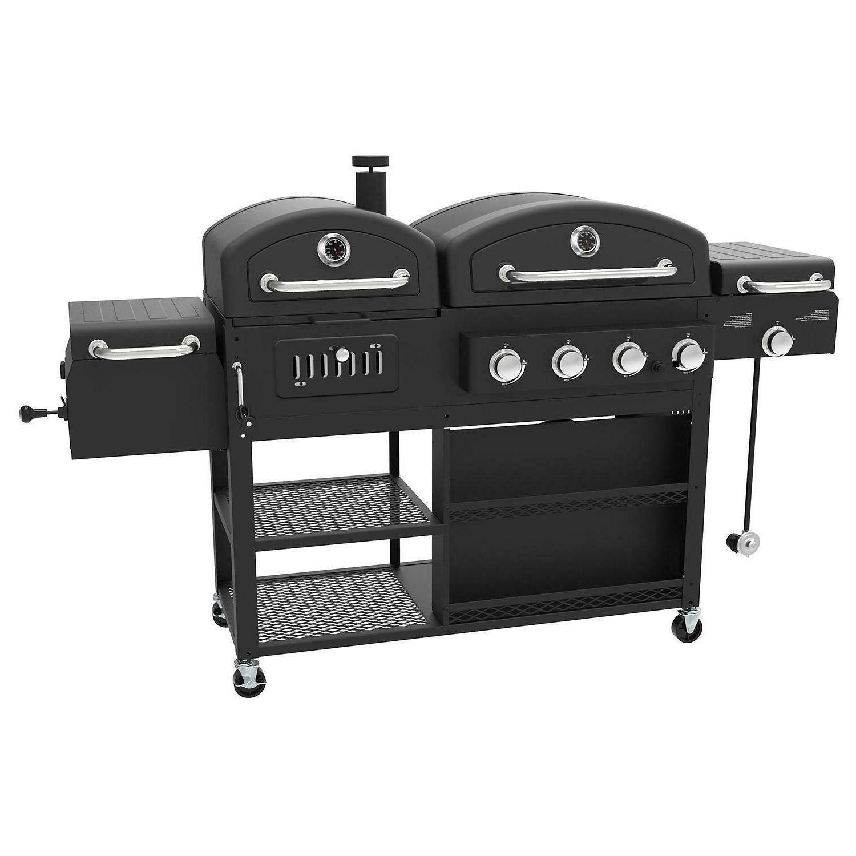 Smoke Hollow DG1100S Pro Series 4-in-1 LP Gas Charcoal Smoke