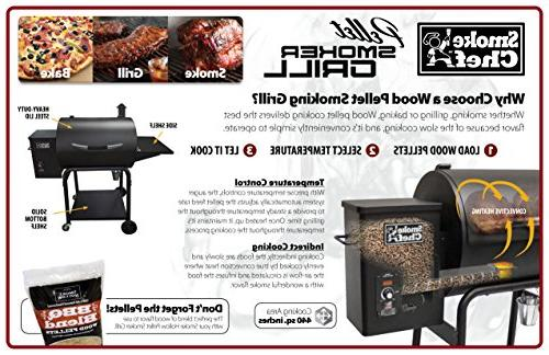 Smoke Pellet Grill and Smoker, sq. inches of Area