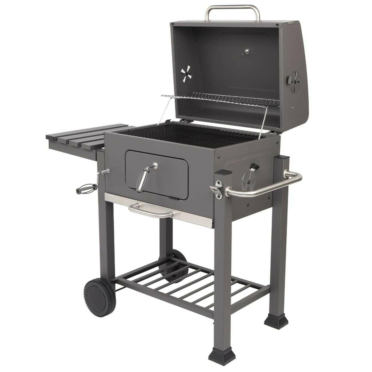 square oven charcoal oven plastic wheel