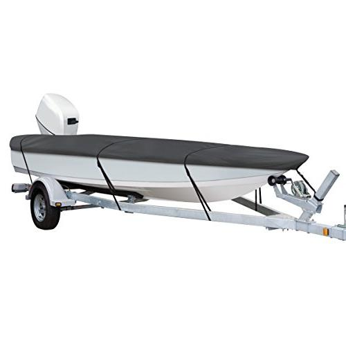 Classic Accessories StormPro Heavy-Duty Boat Cover with Support Pole for...