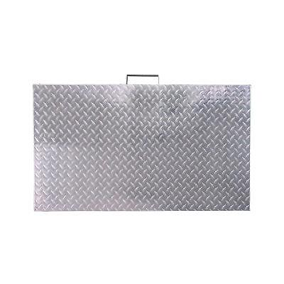 titan diamond plated aluminum grill cover fits