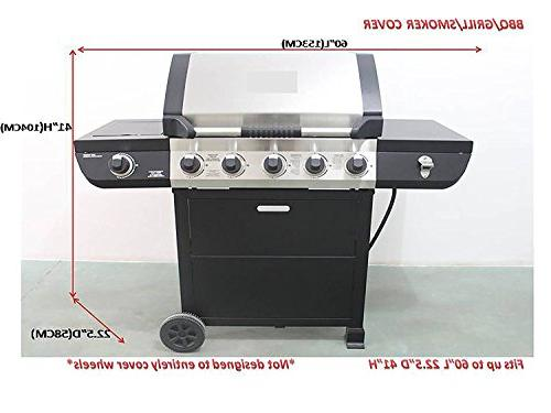 iCOVER-Grill-Cover- Resistant Proof Outdoor Canvas Grill Char-Broil Brinkmann Holland and JennAir, Black, G21604