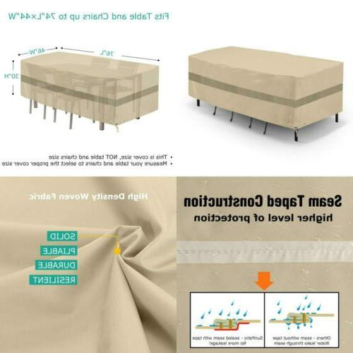 Waterproof Patio Furniture Set Cover with Taped Seam Outdoor