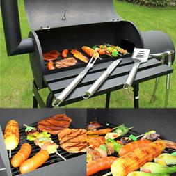 Large Charcoal Grill Outdoor Barbecue Offset Smoker BBQ Picn