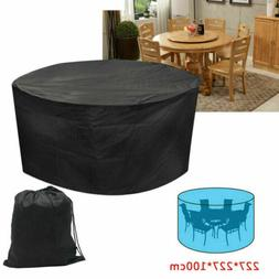 Large Round Outdoor Garden Patio Table Chair Set Furniture C