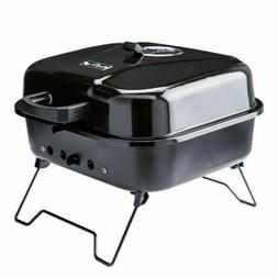 Mr. Bar-B-Q Portable charcoal grill 206-sq in Black/Porcelai