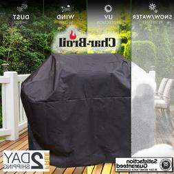 """NEW BLACK Char-Broil UNIVERSAL FIT 65"""" GRILL COVER FREE FAST"""